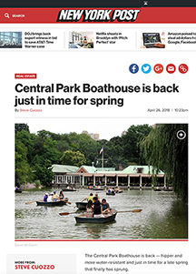 Central Park Boathouse is back just in time for spring